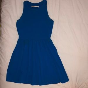 Susana Monaco High Neck Cobalt Blue Dress